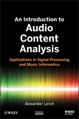An Introduction to Audio Content Analysis | Alexander Lerch |