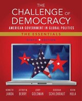 The Challenge of Democracy | Kenneth Janda; Jeffrey M. Berry; Jerry Goldman; Kevin W. Hula; Deborah Jill Schildkraut |