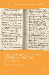 History of British Women's Writing, 1610-1690 | auteur onbekend |