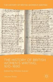 History of British Women's Writing, 1610-1690