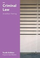 Criminal Law | Jonathan Herring |