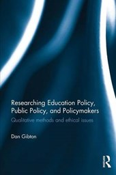 Researching Education Policy, Public Policy, and Policymaker