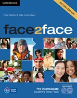 face2face Pre-intermediate Student's Book with DVD-ROM and O | Chris Redston; Gillie Cunningham; Nicholas Tims |