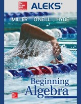 Aleks 360 Access Card (11 Weeks) for Beginning Algebra | Julie Miller |