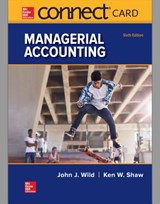 Connect Access Card for Managerial Accounting | John Wild |
