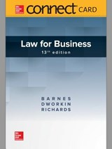 Law of Business McGraw-Hill Connect Access Code | Barnes, A. James ; Dworkin, Terry M. ; Richards, Eric |