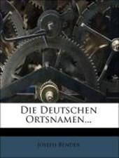 Die deutschen Ortsnamen.