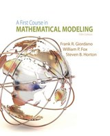 A First Course in Mathematical Modeling | Frank R. Giordano |