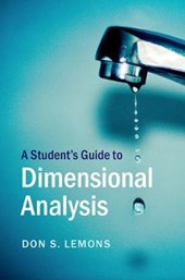 A Student's Guide to Dimensional Analysis | Don S. Lemons |