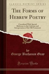 The Forms of Hebrew Poetry | George Buchanan Gray |