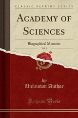 Academy of Sciences, Vol. | Unknown Author |