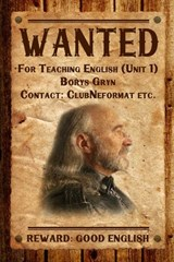 Wanted. For Teaching English (Unit 1). Reward: Good English | Borys Gryn |