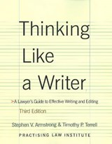 Thinking Like a Writer | Stephen V. Armstrong |