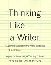 Thinking Like a Writer | Armstrong, Stephen V. ; Terrell, Timothy P. |