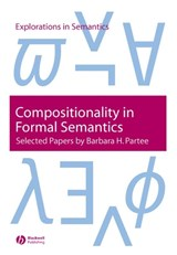 Compositionality in Formal Semantics | Barbara H. Partee |