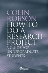 How to do a Research Project | Colin Robson |