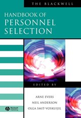 The Blackwell Handbook of Personnel Selection | Arne Evers |