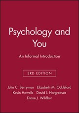 Psychology and You | Julia C. Berryman & Elizabeth M. Ockleford & Kevin Howells & David J. Hargreaves & Diane J. Wildbur |