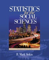 Statistics For The Social Sciences | R. Mark Sirkin |