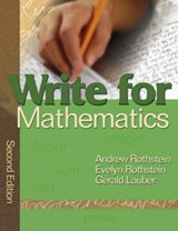 Write for Mathematics | Andrew S. Rothstein |