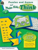 Puzzles and Games That Make Kids Think, Grade | Garth Sundem |