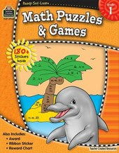 Math Puzzles & Games, Grade 1 [With 150+ Stickers]