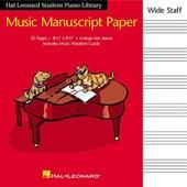 Hal Leonard Student Piano Library Music Manuscript Paper - Wide Staff