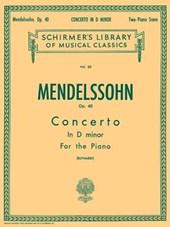 Felix Mendelssohn-Bartholdy Concerto in D Minor