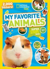 My Favorite Animals Super Sticker Activity Book
