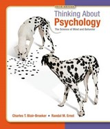 Thinking About Psychology | Blair-Broeker, Charles T. ; Ernst, Randal M. |