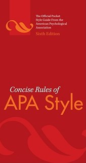 Concise Rules of APA Style | American Psychological Association |
