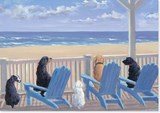 Dogs on Deck Chairs Notecards |  |