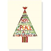 Peace Hope Tree Small Boxed Holiday Cards