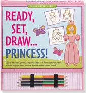 Ready, Set, Draw... Princess! [With Sketch Pad and 4 Double-Ended Colored Pencils]