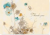 Watercolor Flowers Thank You Notes |  |