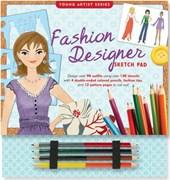 Fashion Designer Sketch Pad [With 4 Colored Pencils]