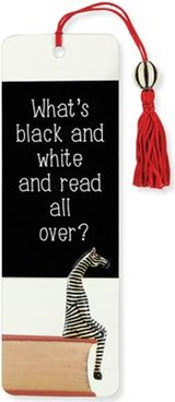 What's Black and White? Beaded Bookmark |  |