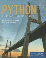 Python Programming In Context | Miller |