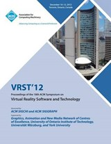 Vrst12 Proceedings of the 18th ACM Symposium on Virtual Real | Vrst 12 |