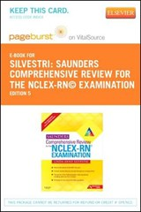 Saunders Comprehensive Review for the NCLEX-RN? Examination Pageburst Plus Evolve Access Code (Retail Access Cards) | Linda Anne Silvestri |