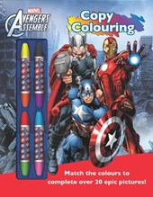 Marvel Avengers Assemble Copy Colouring