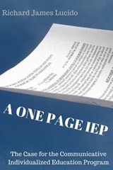 A One Page IEP | Dr Richard James Lucido |
