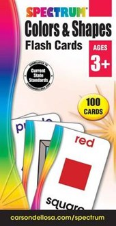 Spectrum Colors & Shapes Flash Cards