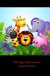 100 Page Lined Journal Happy Animals