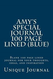 Amy's Special Journal 100 Page Lined (Blue)