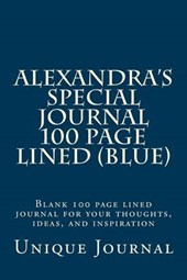 Alexandra's Special Journal 100 Page Lined (Blue)