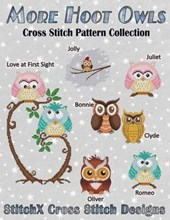 More Hoot Owls ... Cross Stitch Pattern Collection