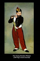 The Young Flautist (Manet) (100 Page Lined Journal)