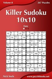 Killer Sudoku 10x10 - Easy - Volume 8 - 267 Puzzles