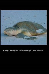 Kemp's Ridley Sea Turtle 100 Page Lined Journal